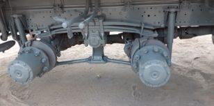 Podwozie dźwigu po piaskowaniu
