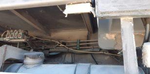 Podwozie przed piaskowaniem (szczegóły)