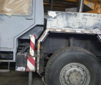 Efekt piaskowania kabiny i elementów metalowych - Ruda Śląska