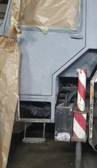 Efekt piaskowania kabiny - Ruda Śląska